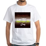 White T-shirt: Lemon Meringue Pie Day