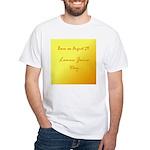 White T-shirt: Lemon Juice Day
