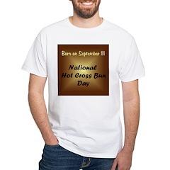 White T-shirt: Hot Cross Bun Day