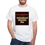 White T-shirt: International Chocolate Day