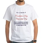 White T-shirt: Constitution Day Citizenship Day U.