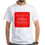 White T-shirt: Punch Day