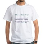 White T-shirt: T.S. Eliot, poet, Nobel Prize for L