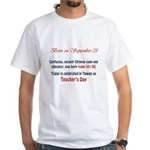 White T-shirt: Confucius, ancient Chinese sage and