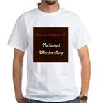 White T-shirt: Mocha Day