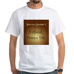 White T-shirt: Frappe Day