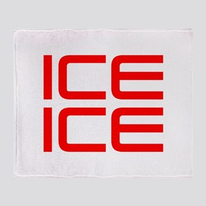 ice ice baby-Sav red Throw Blanket