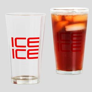 ice ice baby-Sav red Drinking Glass
