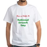 White T-shirt: Grouch Day
