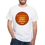 White T-shirt: Pumpkin Cheesecake Day