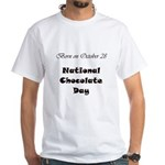 White T-shirt: Chocolate Day