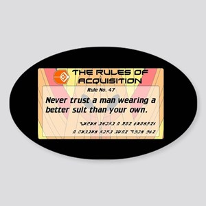 FERENGI RULES 47 Sticker (Oval)