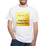 White T-shirt: Sundae Day