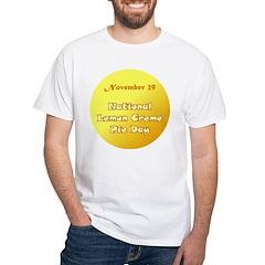White T-shirt: Lemon Creme Pie Day