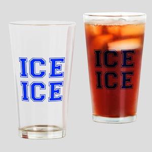 ice ice baby-Var blue Drinking Glass