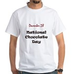 White T-shirt: Chocolate Day