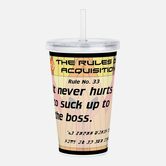 FERENGI RULES 33 Acrylic Double-wall Tumbler
