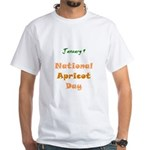 White T-shirt: Apricot Day