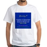 White T-shirt: Connecticut, Nutmeg State, ratified