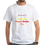 White T-shirt: Peach Melba Day
