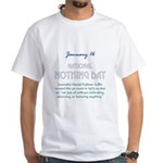 White T-shirt: Nothing Day Harold Coffin created t