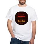 White T-shirt: Chocolate Fondue Day