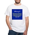 White T-shirt: Massachusetts, Bay State, became th