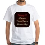 White T-shirt: Cream Cheese Brownie Day