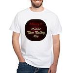 White T-shirt: Plum Pudding Day