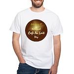 White T-shirt: Cafe Au Lait Day