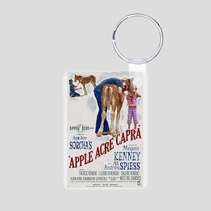 "Apple Acre Capra ""Muse"" Gy Aluminum Photo Keychain"