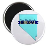 True Blue Nevada LIBERAL Magnet