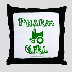 pharm girl trans Throw Pillow