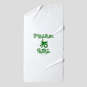 pharm girl trans Beach Towel