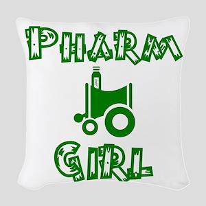 pharm girl trans Woven Throw Pillow