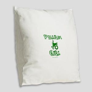 pharm girl trans Burlap Throw Pillow