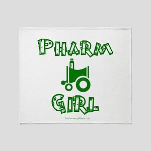 Pharm Girl Trans Throw Blanket