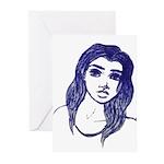 Girl sketch Greeting Cards
