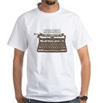 Mystery Writer White T-shirt