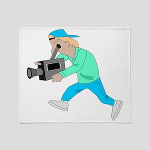 Videographer Throw Blanket