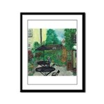 English Pub Garden Framed Panel Print
