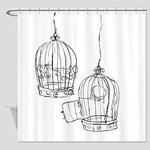 Birdcage 1 Shower Curtain