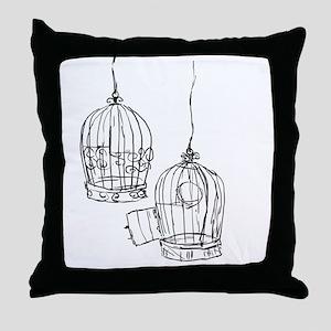 Birdcage 1 Throw Pillow