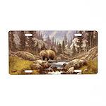 Grizzly Bear Landscape Aluminum License Plate
