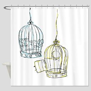 Birdcage 2 Shower Curtain