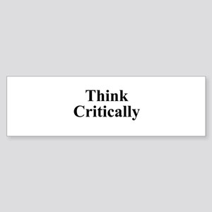 Think Critic Sticker (Bumper)