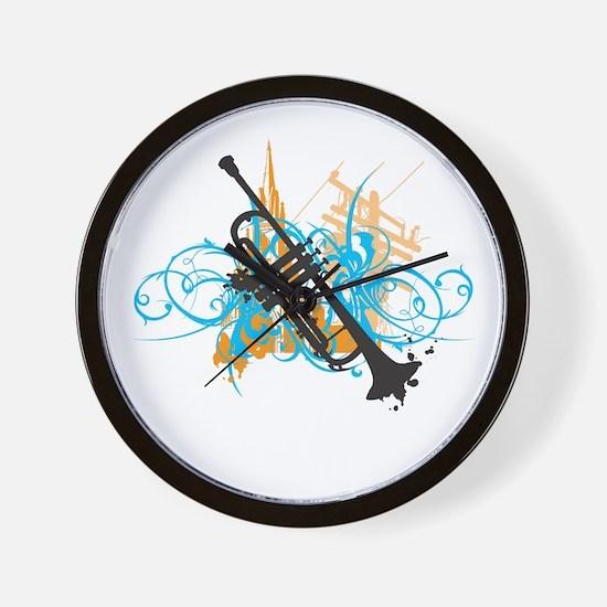 Urban Trumpet Wall Clock