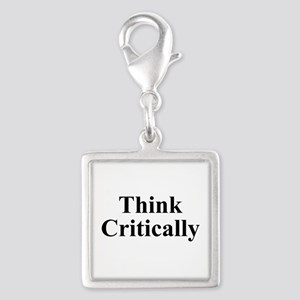 Think Critically Silver Square Charm