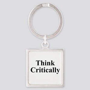Think Critically Square Keychain
