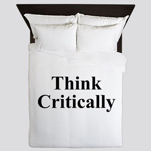 Think Critically Queen Duvet